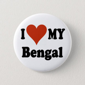 I Love My Bengal Cat Merchandise Pinback Button