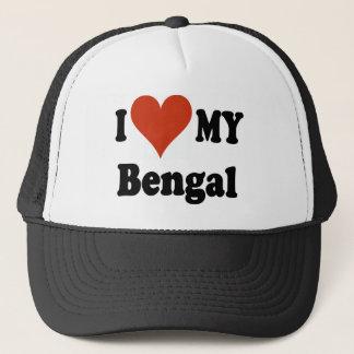 I Love My Bengal Cat Merchandise Trucker Hat
