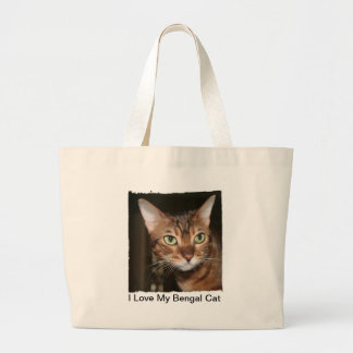 I Love My Bengal Cat Tote Canvas Bag