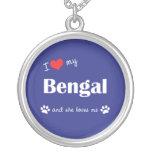 I Love My Bengal (Female Cat) Pendants