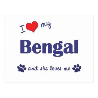 I Love My Bengal (Female Cat) Postcard