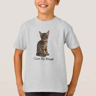 I Love My Bengal, Kitten in Color Pencil T-Shirt