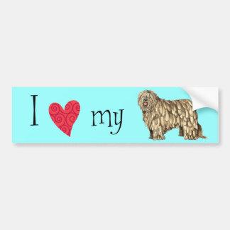 I Love my Bergamasco Bumper Sticker