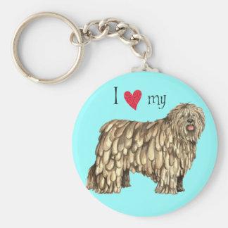 I Love my Bergamasco Keychain