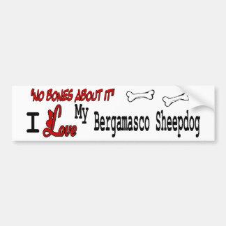 I Love My Bergamasco Sheepdog Bumper Sticker