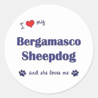 I Love My Bergamasco Sheepdog (Female Dog) Classic Round Sticker