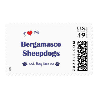 I Love My Bergamasco Sheepdogs (Multiple Dogs) Stamp