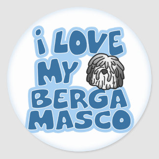 I Love My Bergamasco Stickers