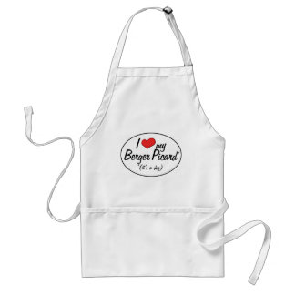 I Love My Berger Picard (It's a Dog) Adult Apron