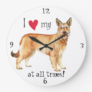 I Love my Berger Picard Large Clock