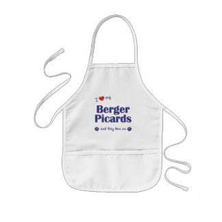 I Love My Berger Picards (Multiple Dogs) Kids' Apron