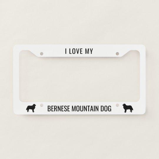Caps PAW I LOVE MY BORDER COLLIE Dog Pet Black Metal License Plate Frame