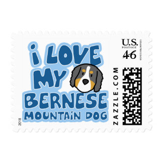 I Love My Bernese Mountain Dog Stamps