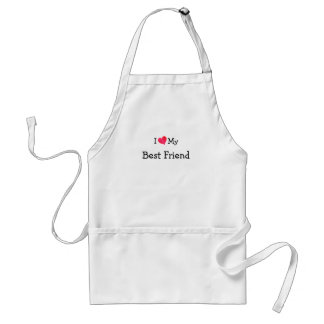 I Love My Best Friend Adult Apron