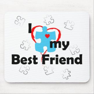 I Love My Best Friend - Autism Mouse Pad