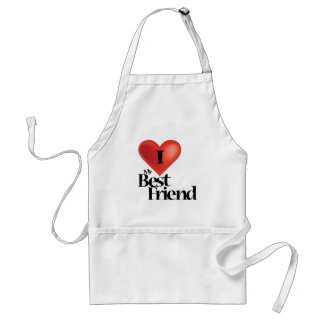 I love my best friend design adult apron