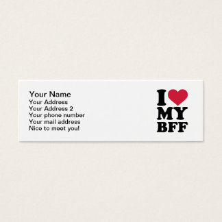 I love my best friend forever BFF Mini Business Card
