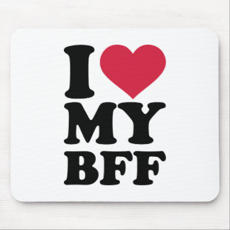 I love my best friend forever BFF Mouse Pad