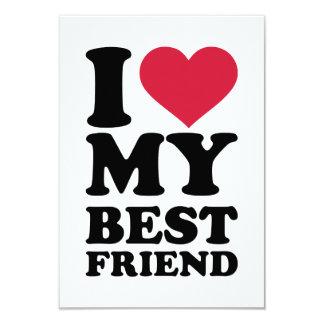 I love my best friend 3.5x5 paper invitation card