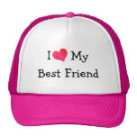 I Love My Best Friend Mesh Hat