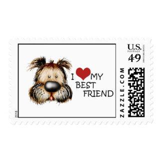 I LOVE MY BEST FRIEND Postage Stamp
