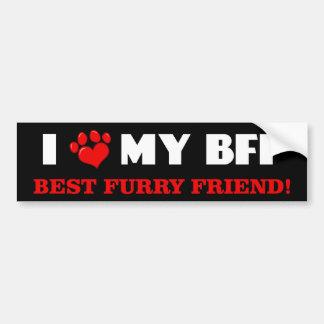I Love My Best Furry Friend Bumper Sticker