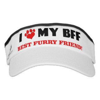 I Love My Best Furry Friend (Dark) Visor