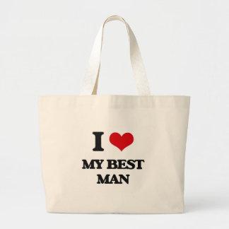I love My Best Man Jumbo Tote Bag