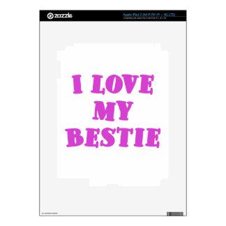 I Love my Bestie Decals For iPad 3