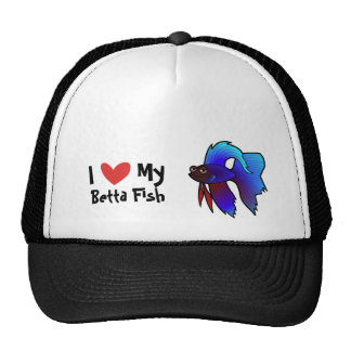 I Love My Betta Fish / Siamese Fighting Fish Trucker Hat