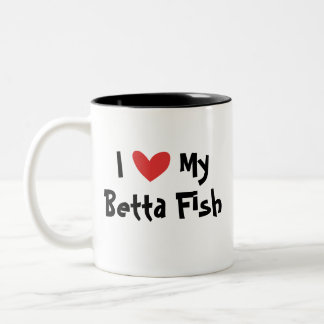 I Love My Betta Fish / Siamese Fighting Fish Two-Tone Coffee Mug