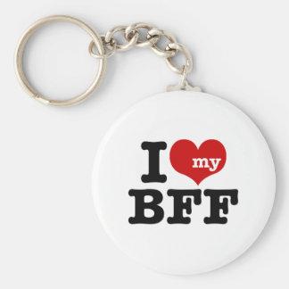 I Love My BFF Keychain