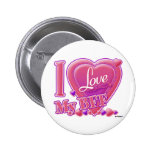 I Love My BFF pink/purple - hearts Buttons