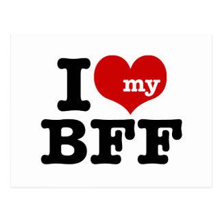 I Love My BFF Postcard