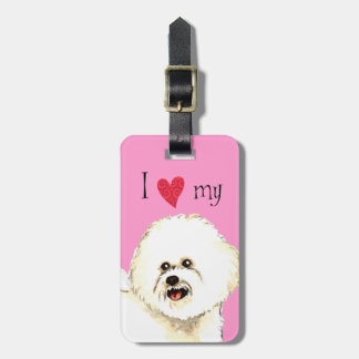 I Love my Bichon Frise Bag Tag