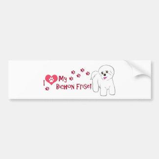I Love My Bichon Frise! Bumper Sticker