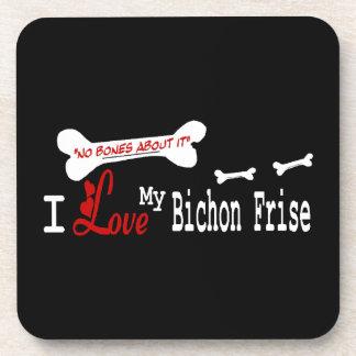 I Love My Bichon Frise Coaster