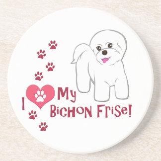 I Love My Bichon Frise! Coasters