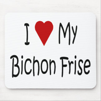 I Love My Bichon Frise Dog Lover Gifts Mouse Pad