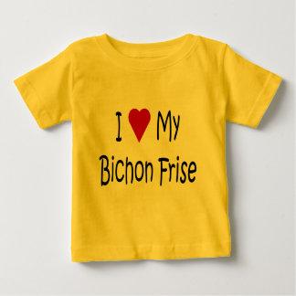 I Love My Bichon Frise Dog Lover Gifts T Shirt