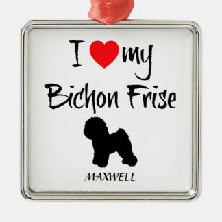 I Love My Bichon Frise Dog Metal Ornament