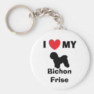 """I Love My Bichon Frise"" Key Chain"