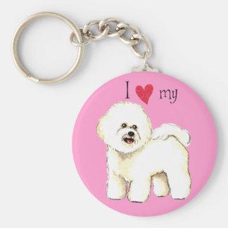 I Love my Bichon Frise Keychain