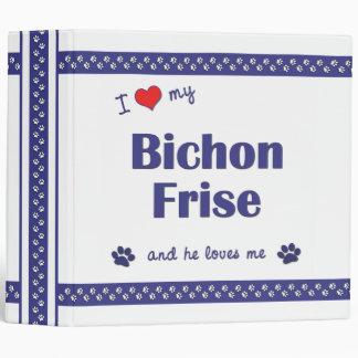 I Love My Bichon Frise (Male Dog) 3 Ring Binders