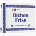 I Love My Bichon Frise (Male Dog) Binder