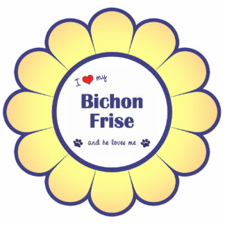 I Love My Bichon Frise (Male Dog) Photo Cutout