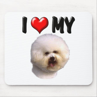 I Love My Bichon Frise Mouse Pad