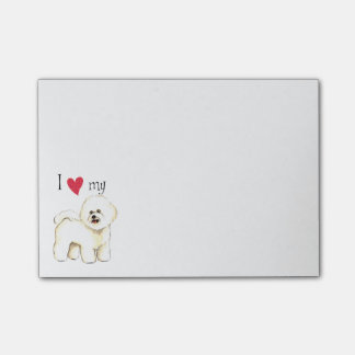 I Love my Bichon Frise Post-it Notes