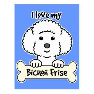 I Love My Bichon Frise Postcard