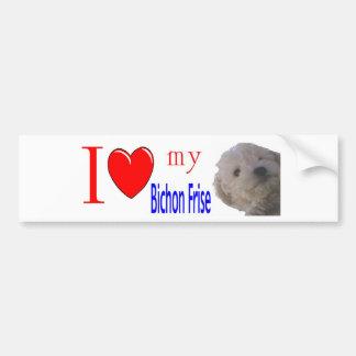 I love my Bichon Frise Puppy Car Bumper Sticker